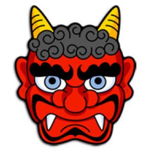 すべての講義 鬼のお面 : Japanese Goblin Mask
